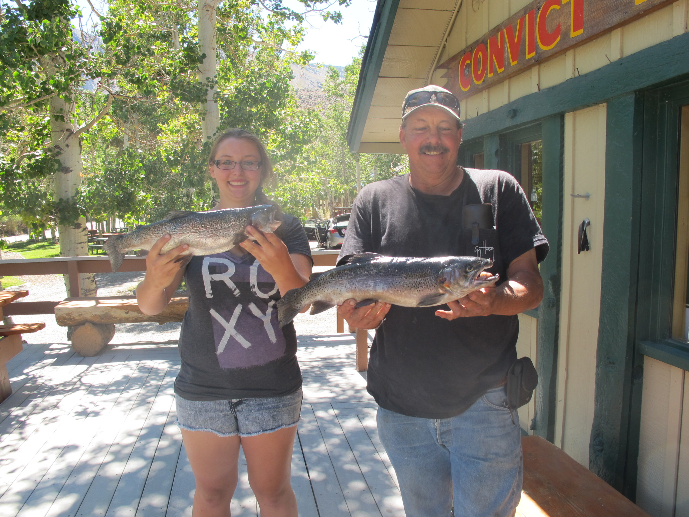 Fishing reports august 24 2013 convict lake resort for Convict lake fishing report