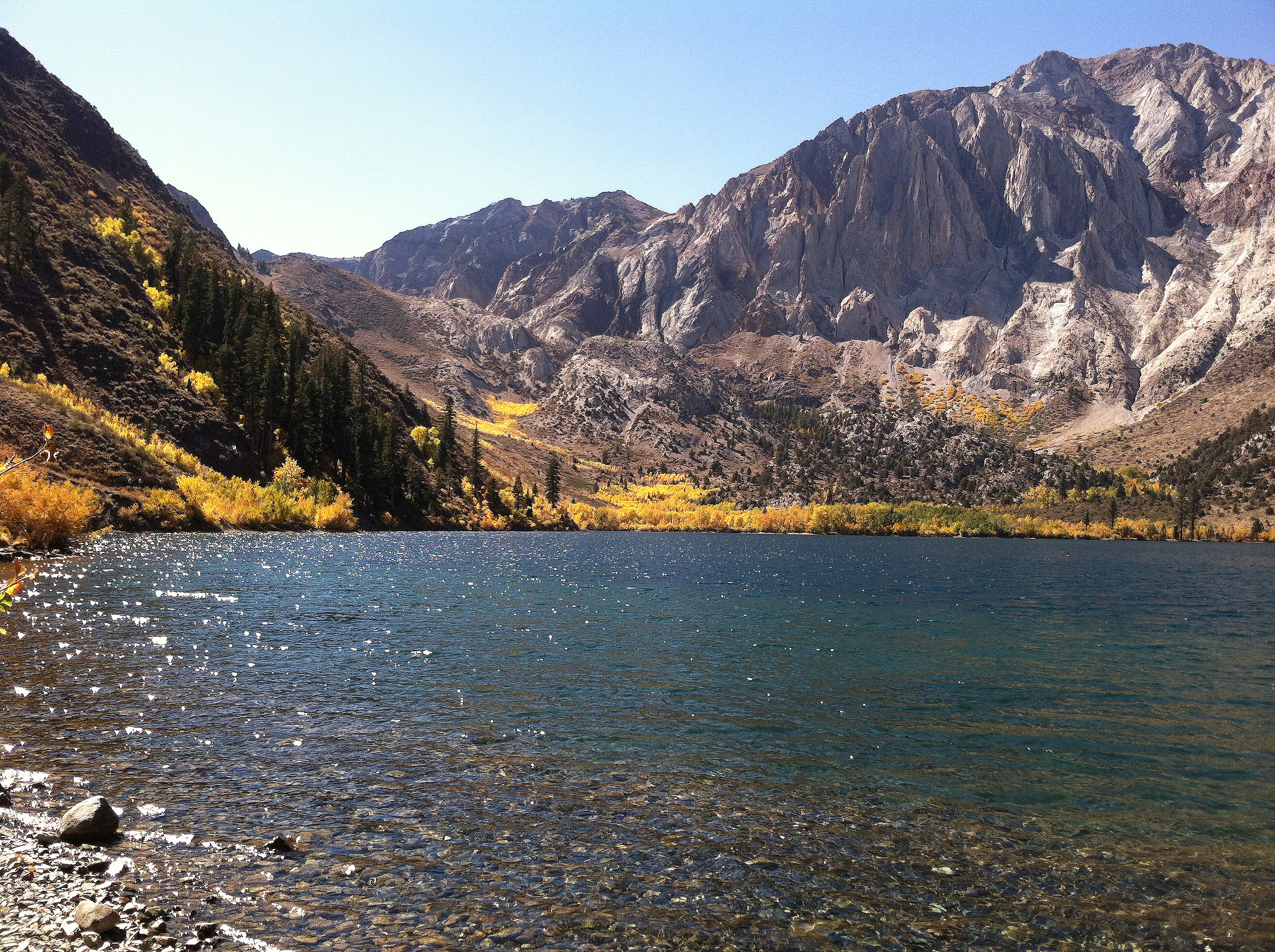 Convict canyon fall colors report convict lake resort for Convict lake fishing report