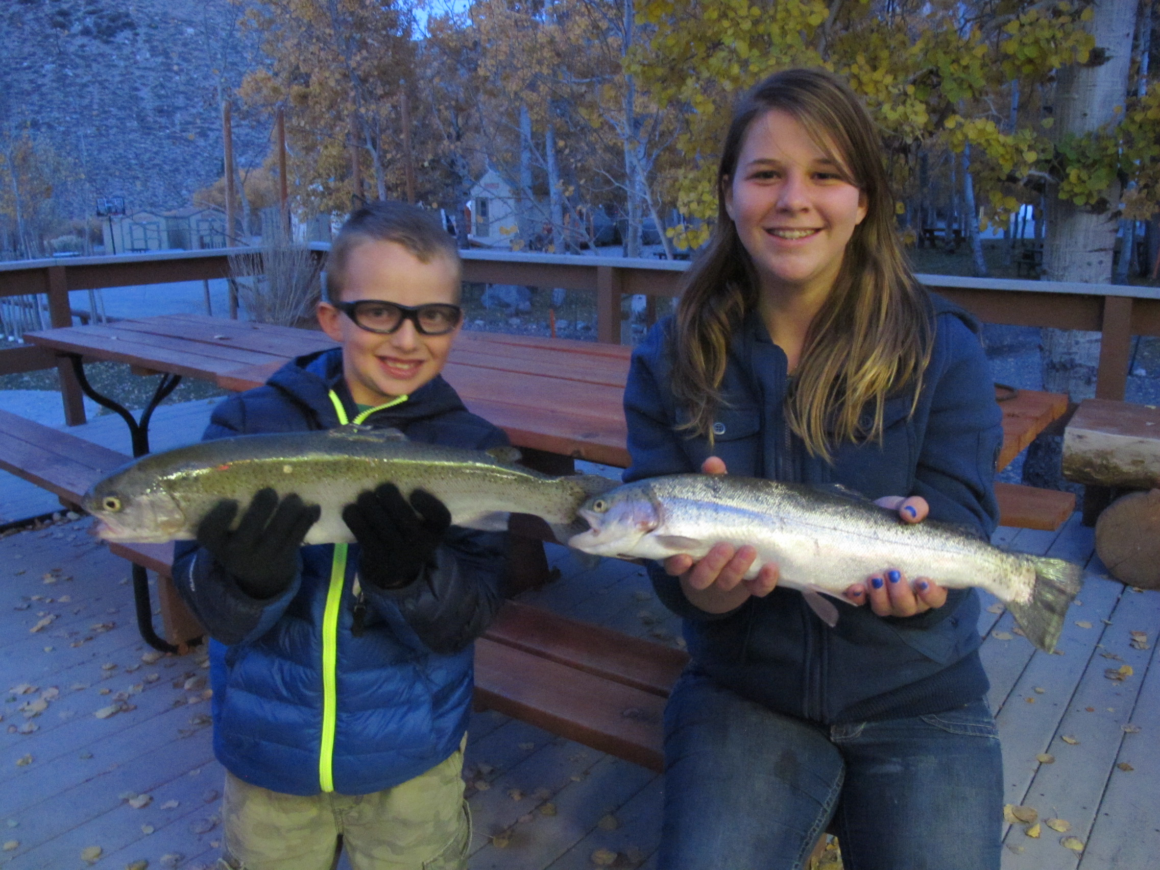 Fishing report november 2 2013 convict lake resort for Convict lake fishing report